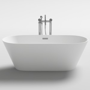 LUGANO acrylic Bathtub 1500mm   ovale free standing
